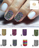 Leopard Full Nail Decals Stickers Water Slides Nail Art