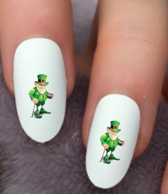 St Patricks Day Leprechaun Waterslide Nail Decals - Nails Creations
