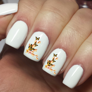 Cute Butterflies and Flowers Designs - Nail Art Waterslide Decals - Nails Creations