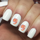 Cute Cartoon Cat Love - Nail Art Waterslide Decals - Nails Creations