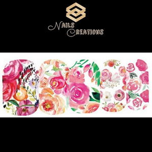 Flowers Nail Art Full Waterslide Decals WG285