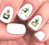 Elf The Movie Christmas Assorted Waterslide Nail Decals