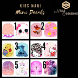 Kids Mani Mini Decals Full Nail Art Waterslide Decals