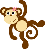 Monkey Nail Decals Stickers Water Slides Nail Art