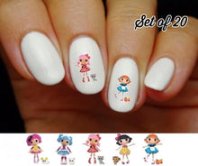 Load image into Gallery viewer, Lalaloopsy Assorted Nail Decals Stickers Water Slides Nail Art