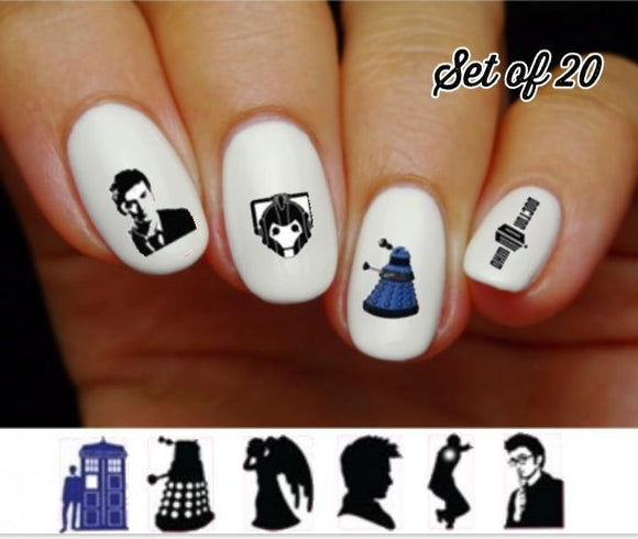 Doctor Who Assorted Nail Decals Stickers Water Slides Nail Art - Nails Creations