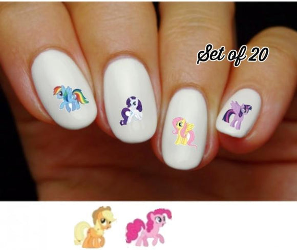 My Little Pony Assorted Nail Decals Stickers Water Slides Nail Art