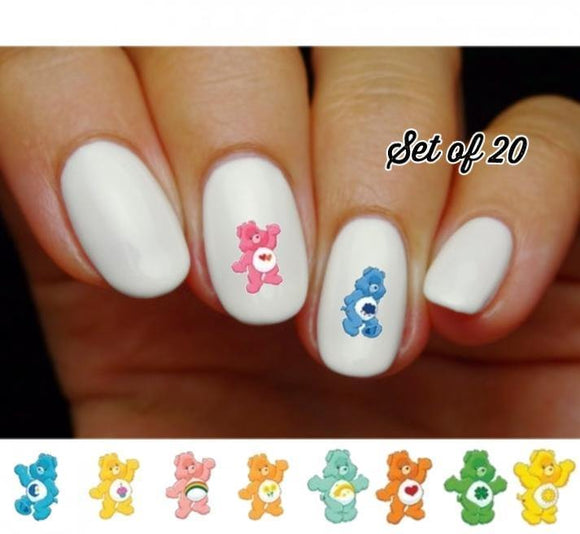 Care Bears Assorted Nail Decals Stickers Water Slides Nail Art - Nails Creations