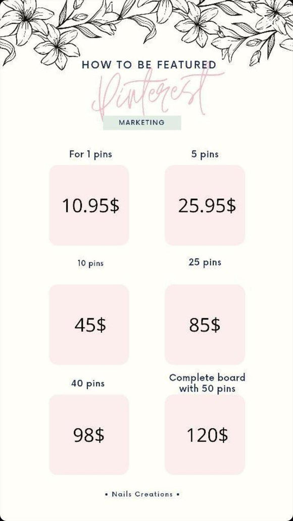 Pinterest Marketing Promote with Nails Creations