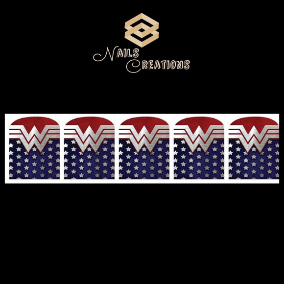 Wonder Woman Full Waterslide Nail Decals - Nails Creations