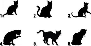 Black Cat Silhouette Nail Decals Stickers Water Slides Nail Art