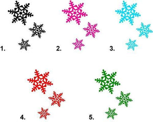 Christmas Holiday Snowflakes Waterslide Nail Decals