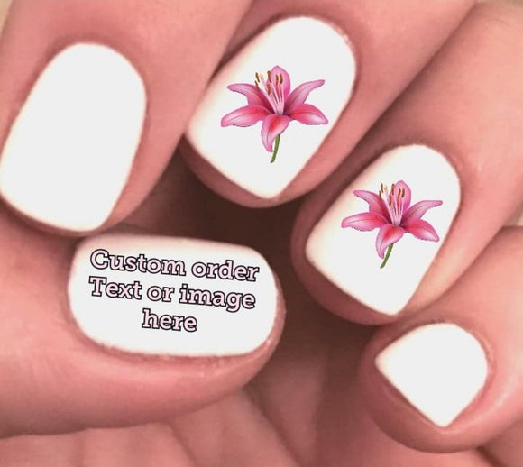 Custom Nail Decals Waterslide Stickers