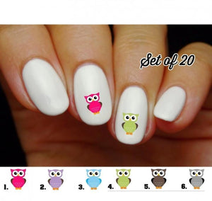 Owl Nail Decals Stickers Water Slides Nail Art