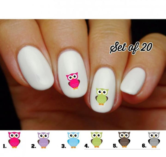 Owl Nail Decals Stickers Water Slides Nail Art - Nails Creations