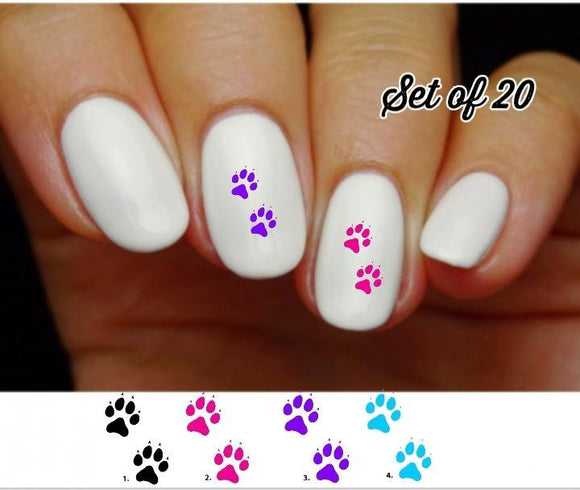 Cat Prints Nail Decals Stickers Water Slides Nail Art