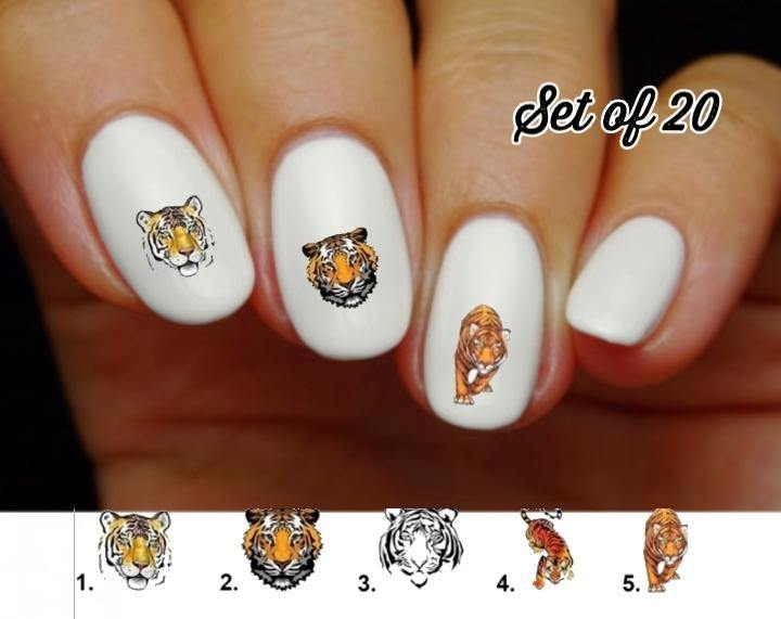 Tiger Nail Decals Stickers Water Slides Nail Art