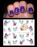 Purple Butterflies Nail Decals Stickers Water Slides Nail Art - Nails Creations