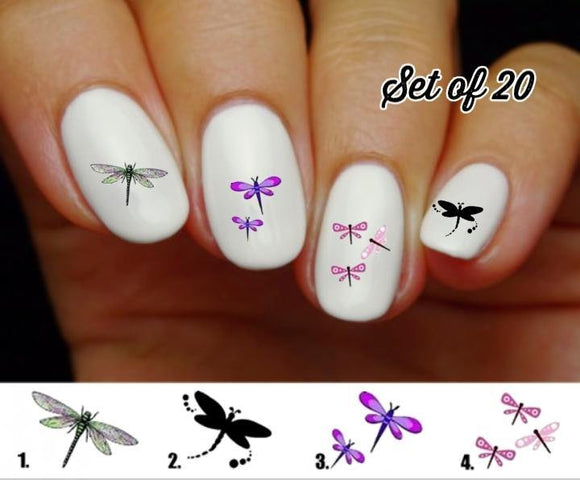 Dragonfly Nail Decals Stickers Water Slides Nail Art