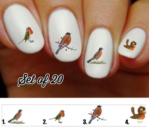 Robin Nail Decals Stickers Water Slides Nail Art