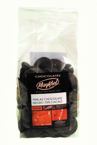 Perlas de chocolate negro