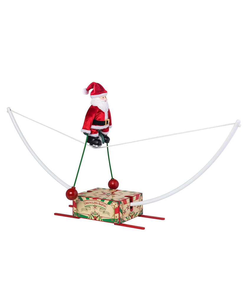 Mr Christmas Unicycling Santa - Artsy Abode