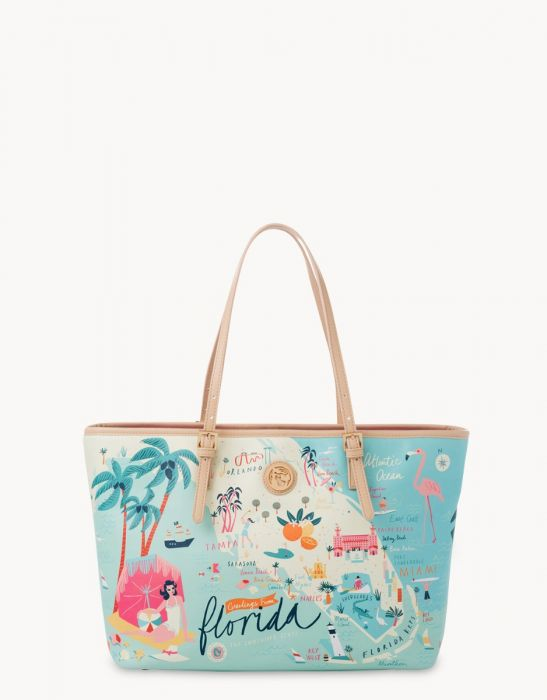 Spartina 449 Florida Map Tote