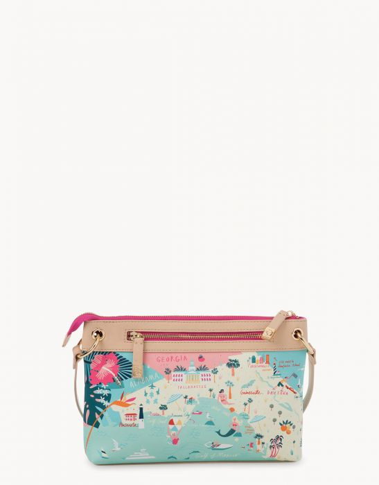 Spartina 449 Florida Map Crossbody