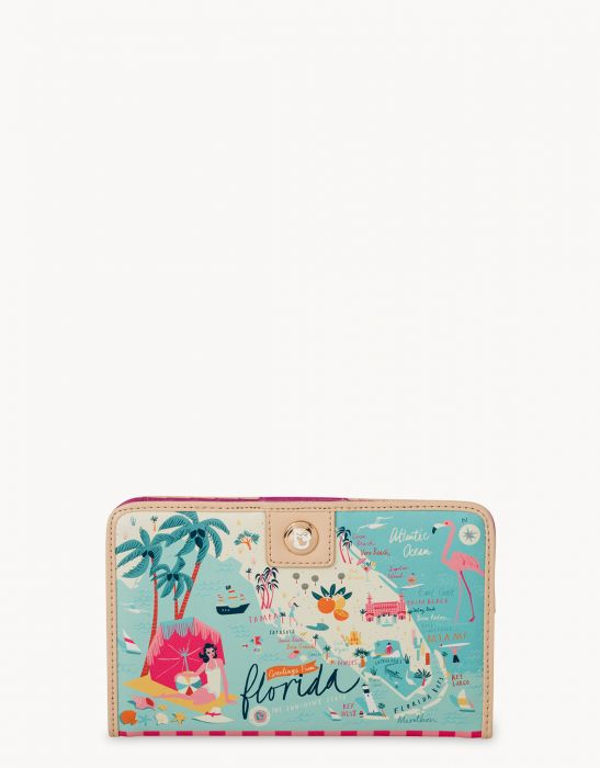 Spartina 449 Spartina 449 Florida Map Snap Wallet - Artsy Abode