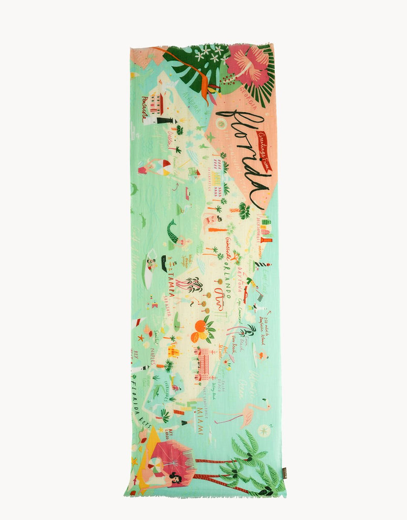 Spartina 449 Florida Map Scarf