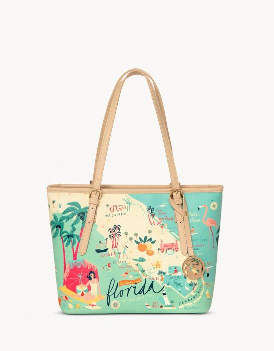 Spartina 449 Florida Map Small Tote
