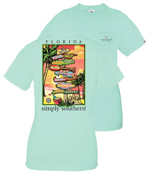 Simply Southern Short Sleeve Tee State of Florida