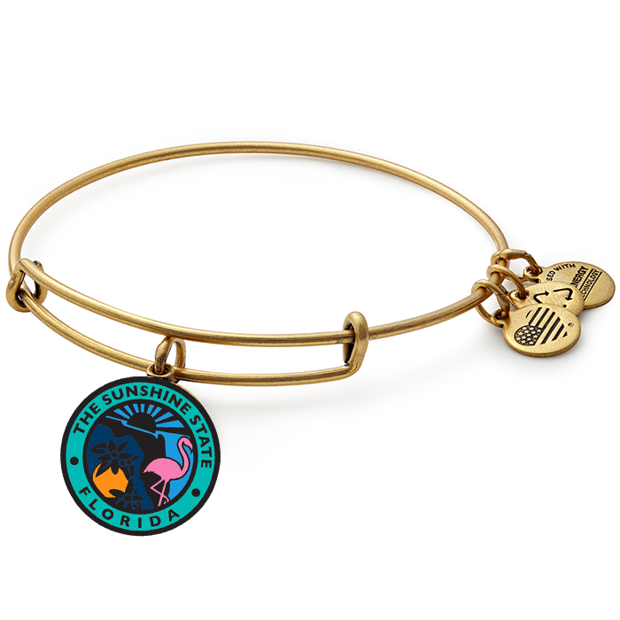 Alex and Ani - State of Florida Bangle in Gold - Artsy Abode