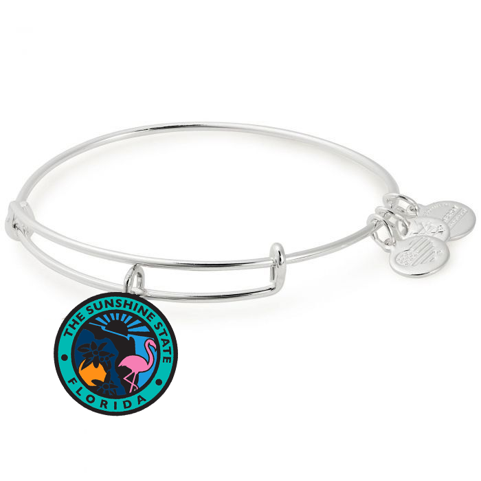 Alex and Ani - State of Florida Bangle in Silver - Artsy Abode
