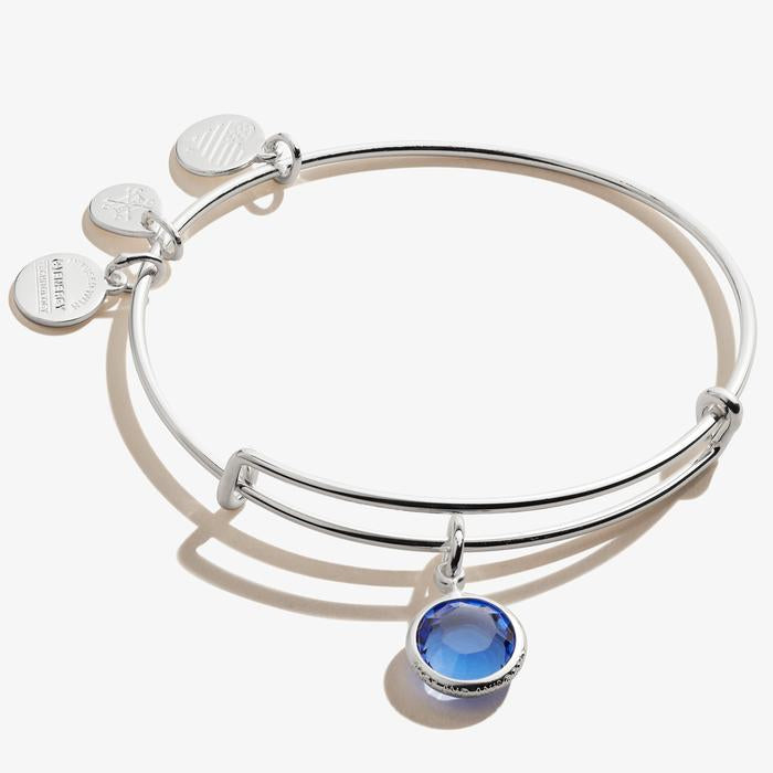Alex and Ani - Sapphire Birthstone Charm Bangle September