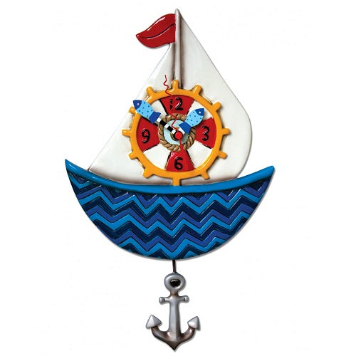 Allen Designs - Ahoy Sailboat Clock - Artsy Abode