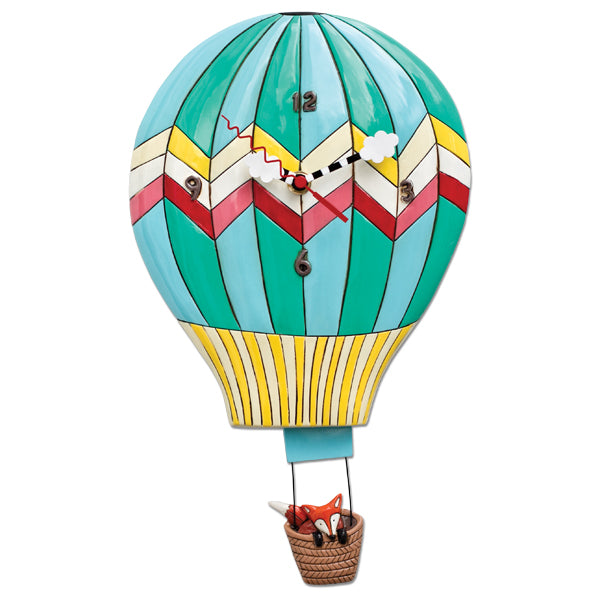 Allen Designs - Fox Aloft (Hot Air Balloon) Clock - Artsy Abode