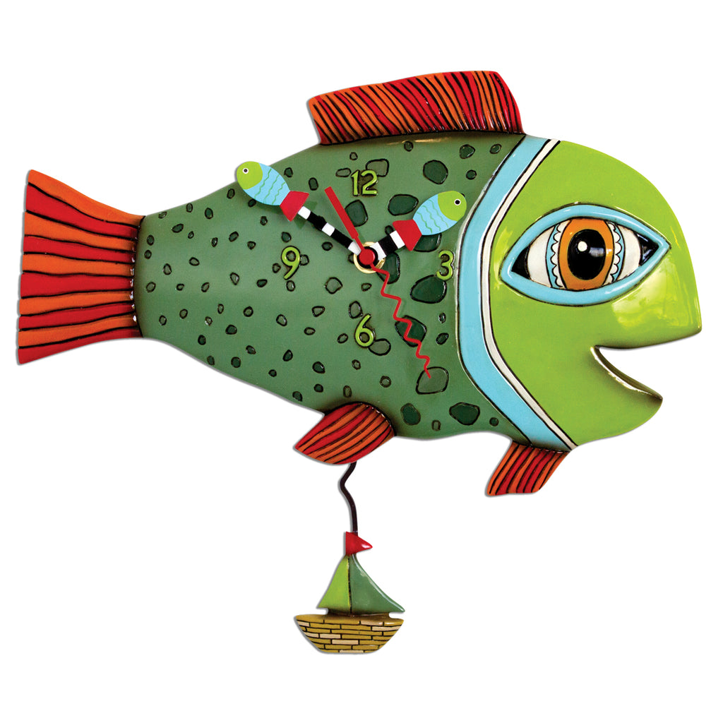 Allen Designs - High Tide Fish Clock - Artsy Abode
