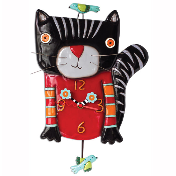 Allen Designs - Knitty Kitty Black Clock - Artsy Abode