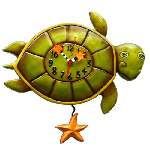 Allen Designs - Shelldon (Turtle) Clock - Artsy Abode