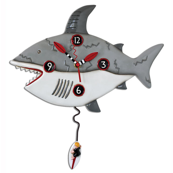 Allen Designs - Surf At Risk Shark Clock - Artsy Abode