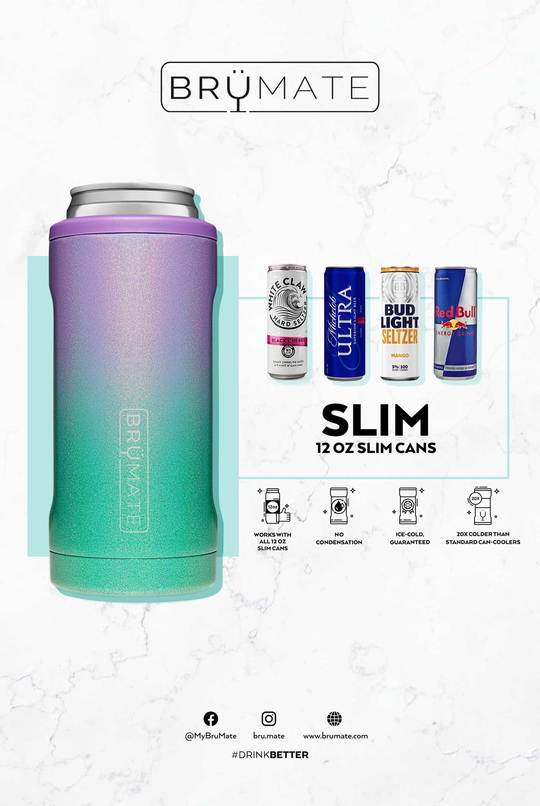 BRUMATE HOPSULATOR SLIM CAN-COOLER - DENIM