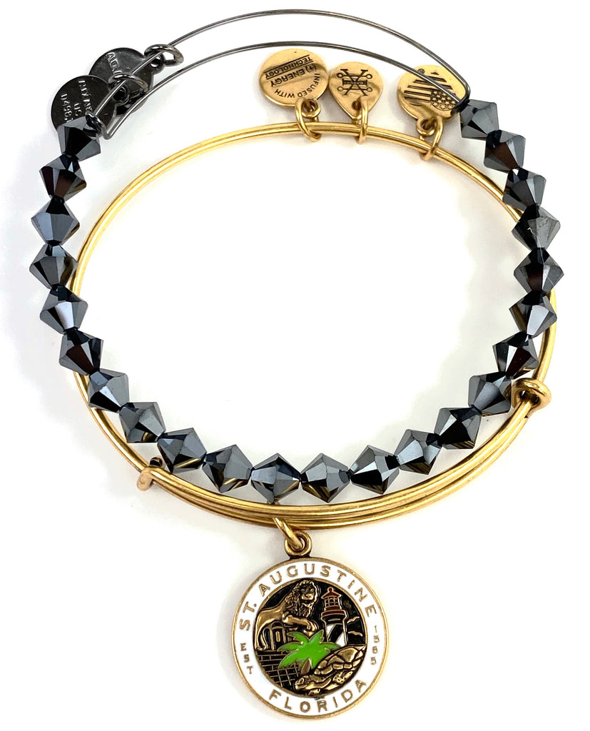 Alex and Ani - St Augustine Florida Bangle Set in Gold - Artsy Abode