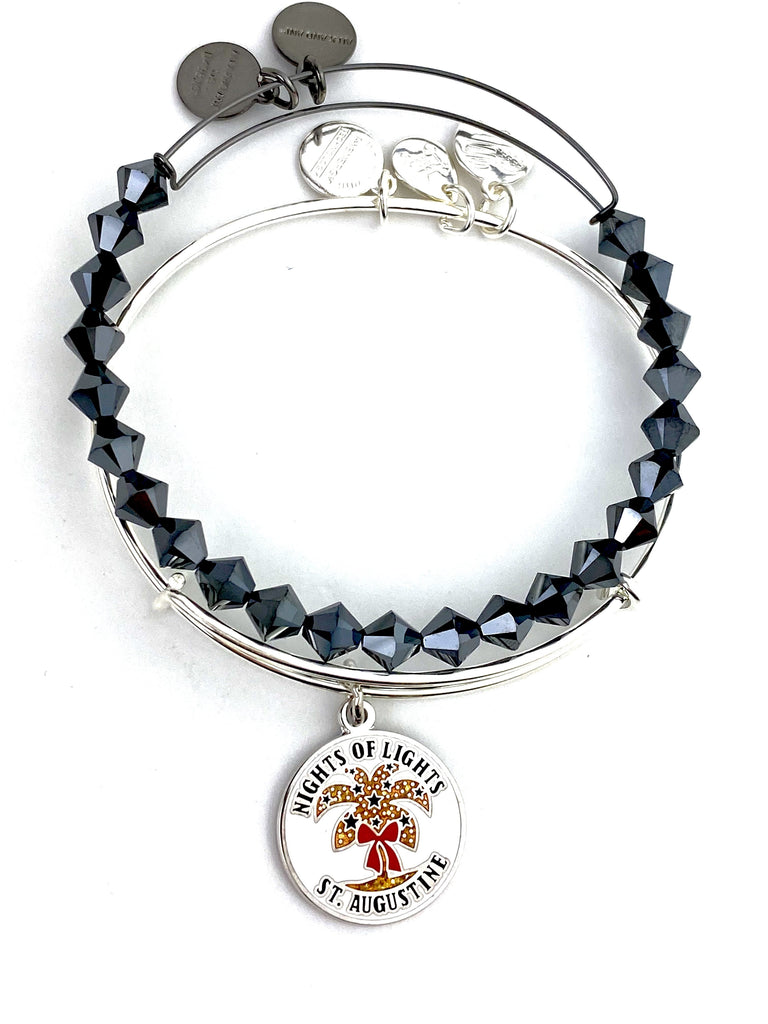Alex and Ani - St Augustine Nights Of Lights Bangle Set with Hematite