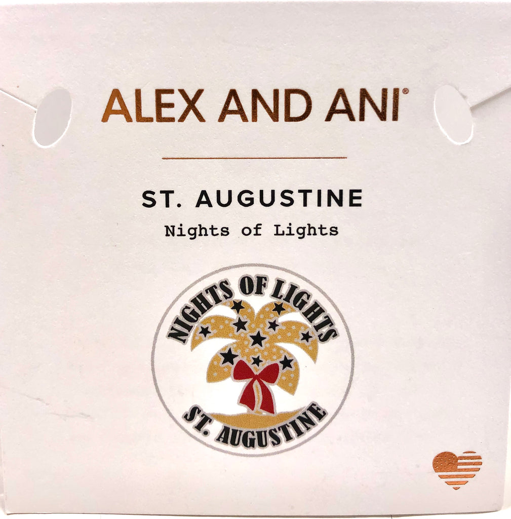 Alex and Ani - St Augustine Nights Of Lights Bangle Set   Hematite - Artsy Abode