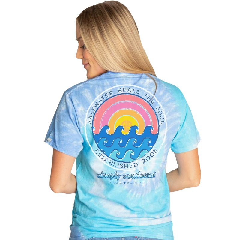 Simply Southern Short Sleeve Shirt Soul in Tide