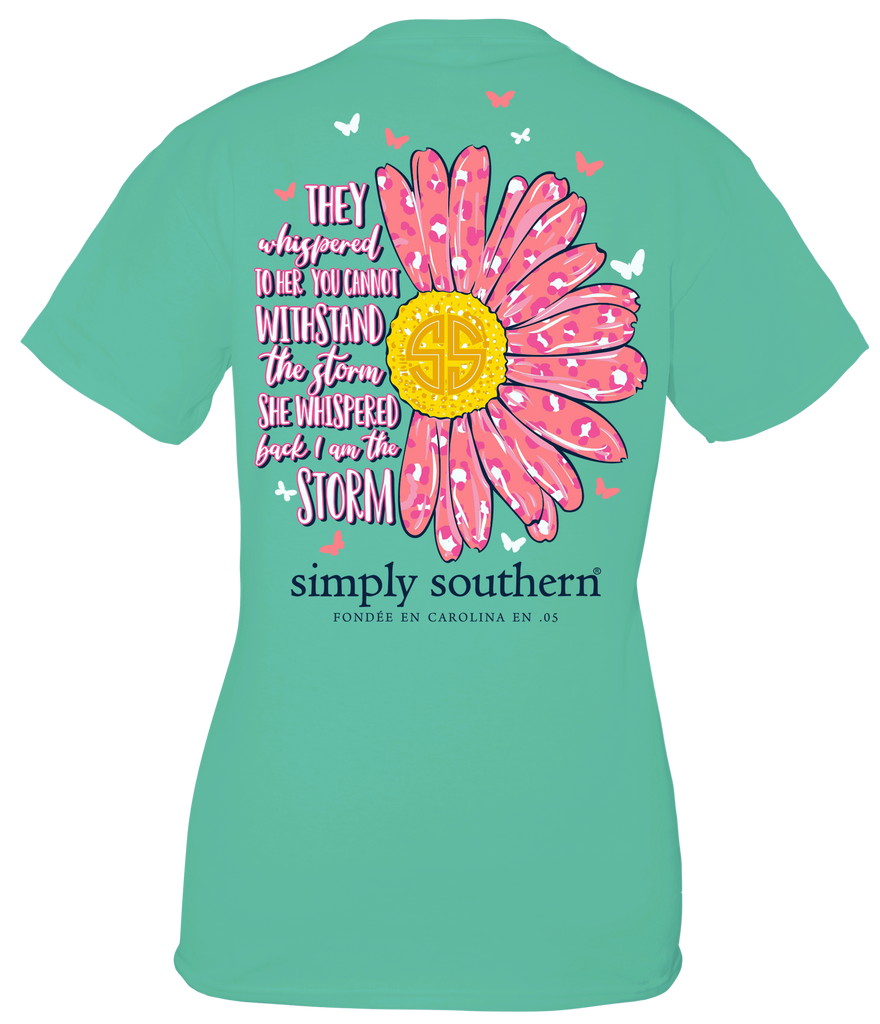 Simply Southern Short Sleeve Tee Shirt Storm in Sea Green