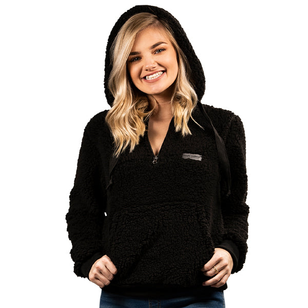 Simply Southern Sherpa Hoodie - Black - Artsy Abode