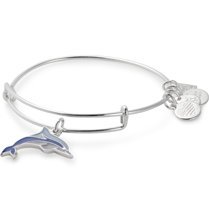 Alex and Ani - Charity By Design: Dolphin Bracelet - Shiny Silver - Artsy Abode