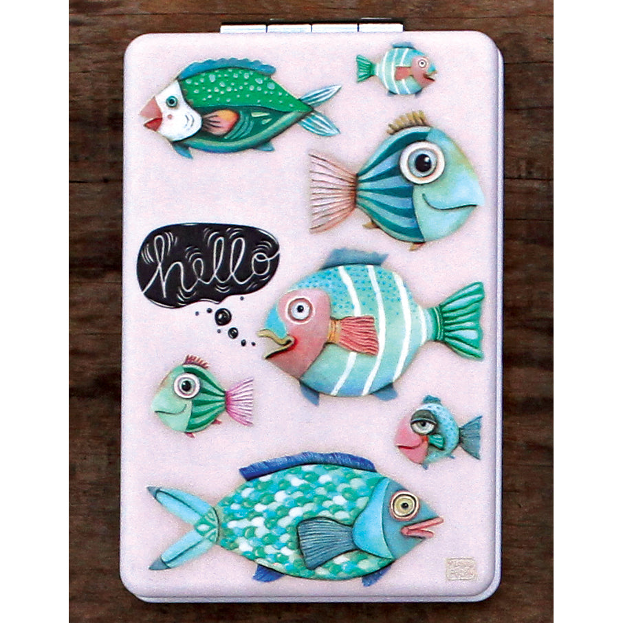 Allen Designs - Hello Fish Compact Mirror